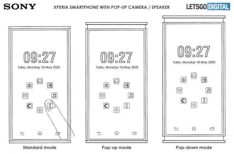 La patente de Sony muestra el teléfono Xperia con altavoces emergentes